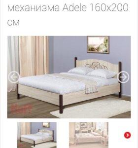 Кровать двуспальная 160*200 с матрасом