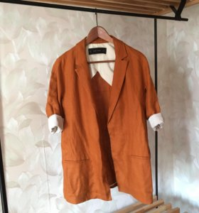 Льняной пиджак Zara