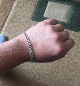 Серебренный браслет мужской
