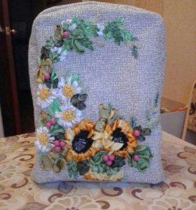 Рюкзак с эксклюзивной вышивкой лентами