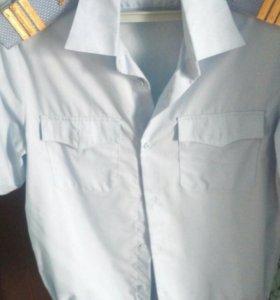 Рубашка мужская полицейская в отличном состоянии