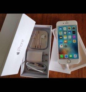 iPhone 6 золотистого цвета.16 гб