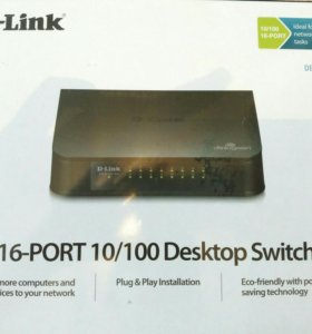 Коммутатор 16-port D- Link