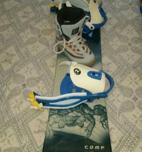 Сноуборд+крепления +ботинки +чехол