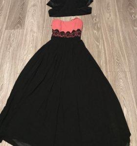 Платье длинное с болеро