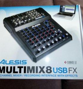 Микшерный пульт ALESIS MULTIMIX 8 USB FX