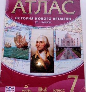7 Кл..АТЛАС ИСТОРИЯ НОВОГО ВРЕМЕНИ XVI-XVIII века