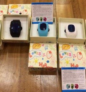 Детские часы телефон с GPS. Q50 Oled