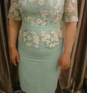 Шикарное платье 52р!