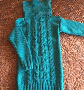 Свитер- туника-платье