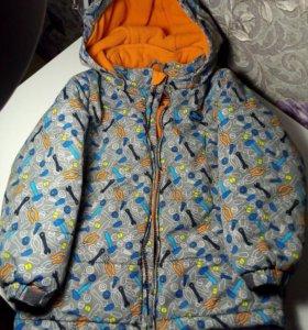 Детская зимняя куртка на 105-110р.(5лет)