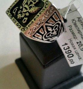 Кольцо-перстень с двухглавым орлом. 20,5