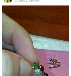 Сережки серебрянные