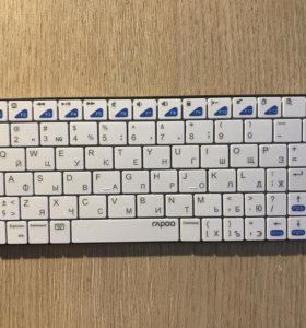 Клавиатура Rapoo E6300White Bluetooth для планшета