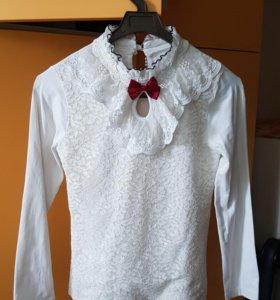 Блузка школьная 145-150 см новая