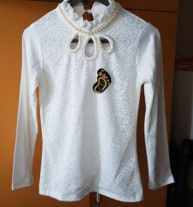 Блузка школьная 146-152 см новая