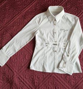 Блузка школьная 140 см б/у