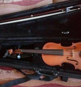 Скрипка 3/4 в отличном состоянии.
