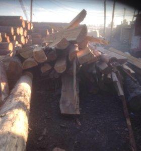 Брёвна, лафет на дрова