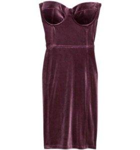 Бархатное новое платье