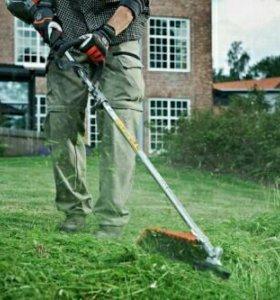 Покос травы,вспашка огорода