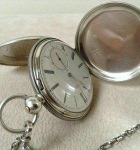 Часы карманные David Humbert, серебрянные, 19 в.