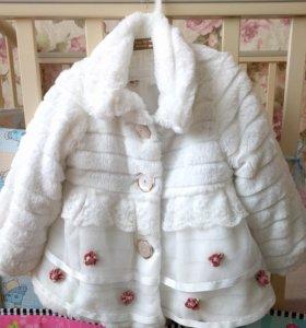 Пальто для девочки на 2 года