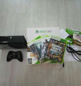 Xbox 360E на 500gb с документами+игры в описании