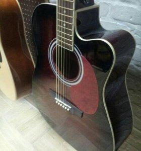 Акустическая Гитара 4/4 Дредноут (Новая) + Чехол