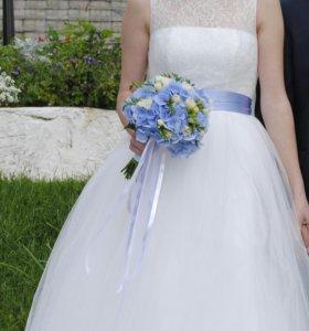 Белое свадебное платье. р.40-44