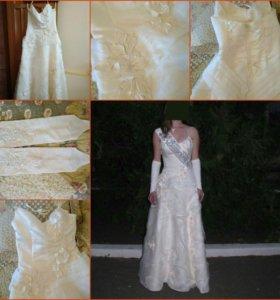 Свадебное/выпускное платье р.40-44