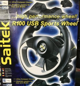 Руль/джойстик Saitek R100 USB Sports Wheel