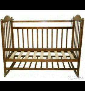 Детская кроватка с матрасом. Золушка