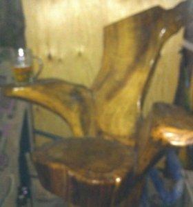 Кресло Трон из дуба
