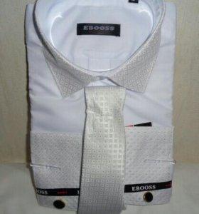нарядная рубашка с галстуком