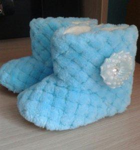 Теплые пинеты-сапожки для вашей малышки