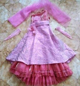 Бально-коктейльное платье