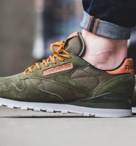 Reebok classic olive suede