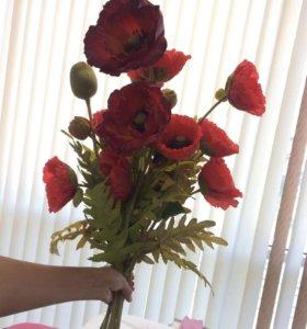 Мак , искусственные цветы