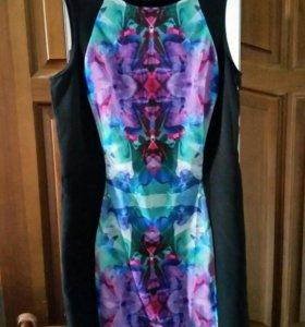 Платье со вставкой 46