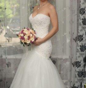 Шикарное свадебное платье в аренду