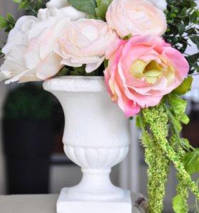 Вазоны античные для флористики из бетона, свадебный декор, вазы для декораторов