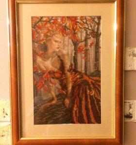 """Картина """" осень"""" вышита бисером💥💥💥💥💥"""