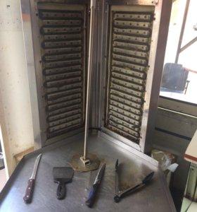 Шаурма аппарат большой в комплекте вафельница+флю