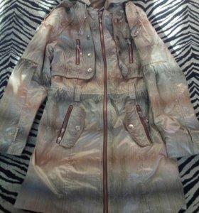 Куртка удлиненная на девочку