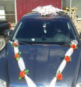 Свадебное украшение на авто.