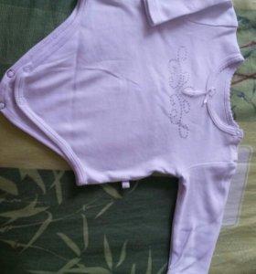 Боди, рубашка-распошонка, чепчик