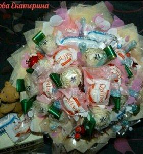 """Букет из конфет """"кокосовое наслаждение""""на заказ"""