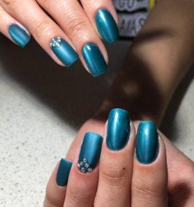 Маникюр (выравнивание ногтевой пластины )покрытие