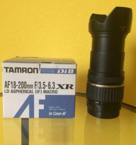 Объектив Tamron af18-200mm для canon